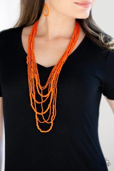 Totally Tonga Orange Necklace