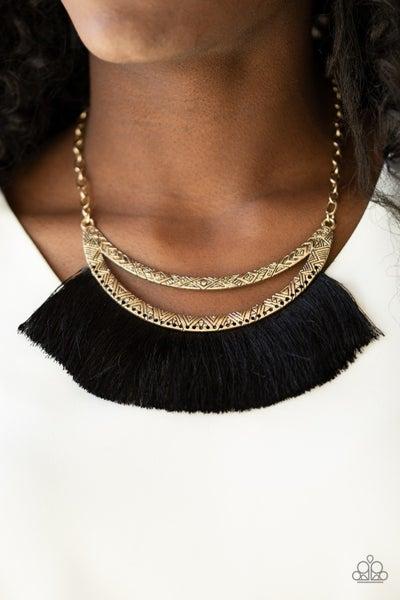The MANE Event Black Gold Necklace