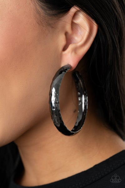 Check Out These Curves Gunmetal Hoops