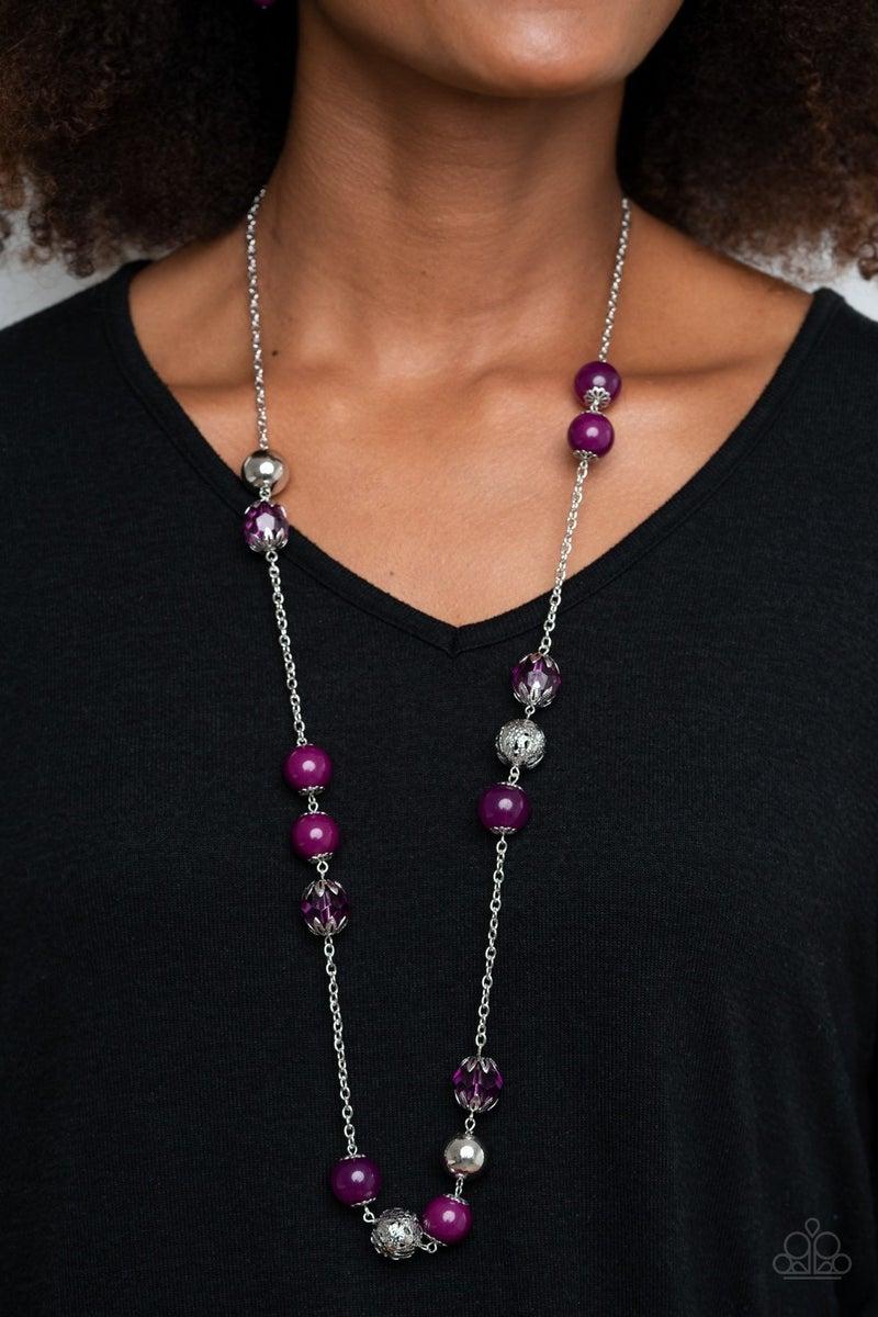 Fruity Fashion Purple Necklace