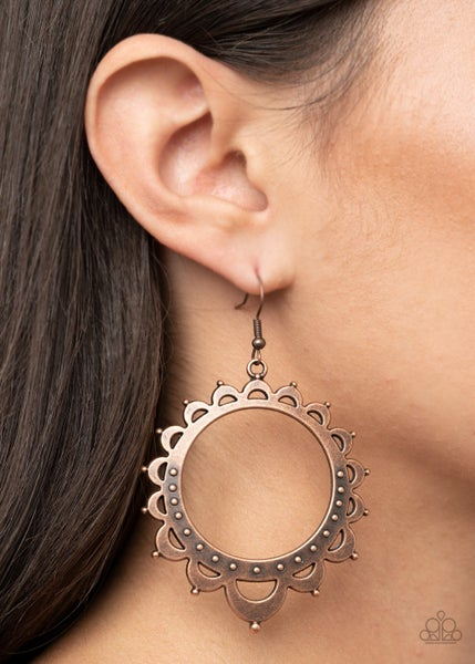 Casually Capricious Copper Earrings