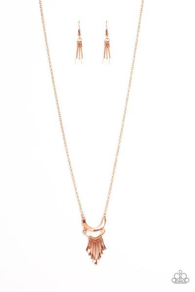 Trendsetting Trinket Copper Necklace