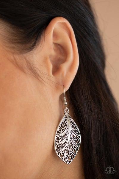 One Vine Day Silver Earrings