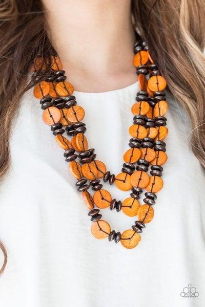 Key West Walkabout Orange Necklace
