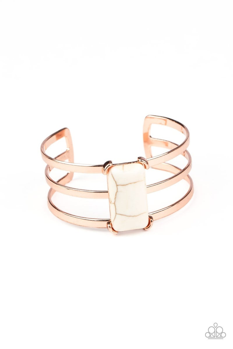 Rural Recreation White Copper Bracelet