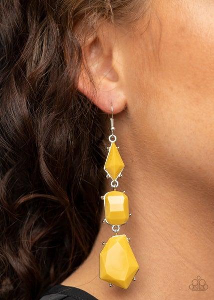 Geo Getaway Yellow Earrings