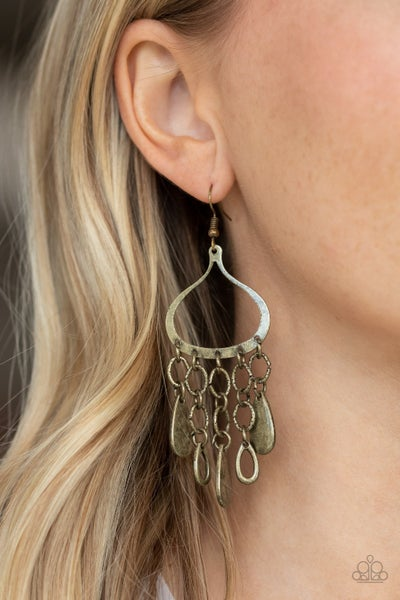 Lure Away Brass Earrings