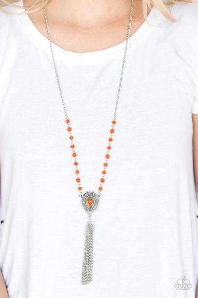 Soul Quest Orange Necklace
