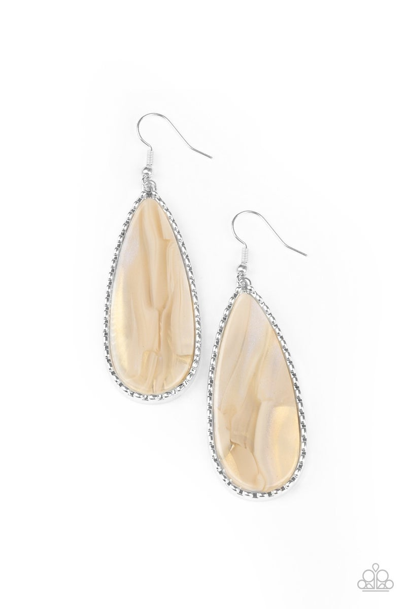 Ethereal Eloquence White Earrings