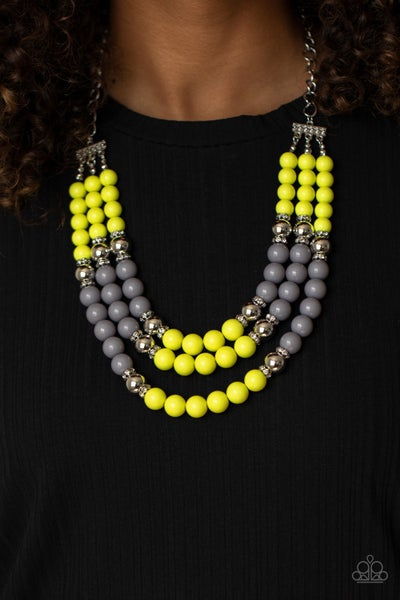 Bead Your Own Drum Yellow Necklace