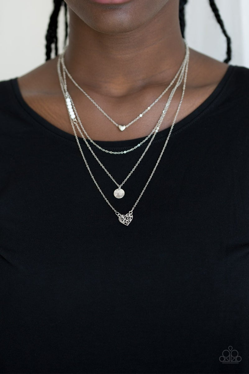 Gypsy Heart White Necklace