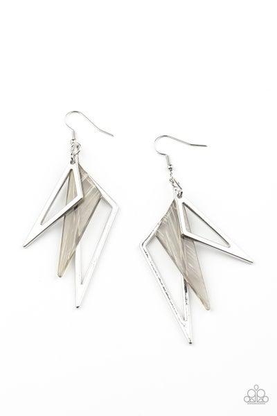 Evolutionary Edge Silver Earrings
