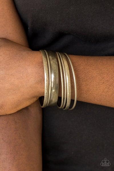 Sahara Shimmer Brass Bracelet