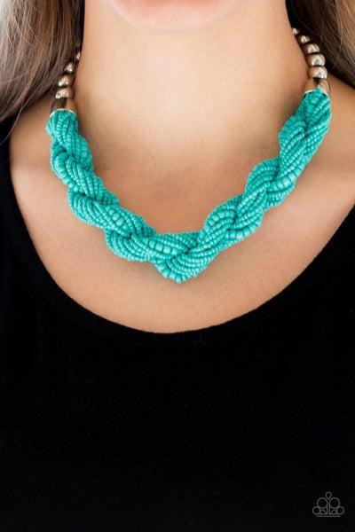 Savannah Surfin' Blue Necklace