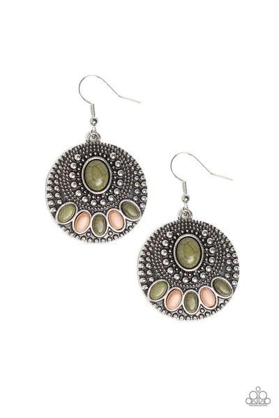 Sandstone Paradise Green Earrings