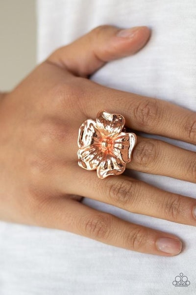 Tropical Gardens Copper Ring