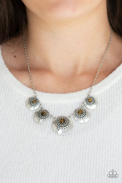 Solar Beam Brown Necklace