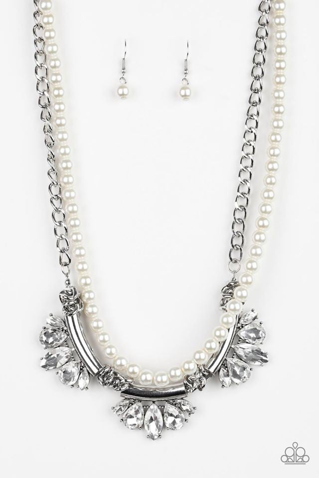 Bow Before The Queen Pearl Necklace