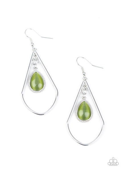 Ethereal Elegance Green Earrings