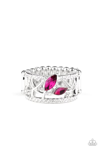 Tilted Twinkle Pink Ring