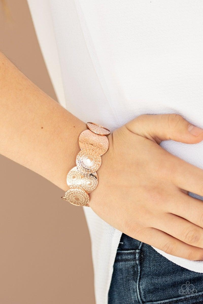 Pleasantly Posy Rose Gold Bracelet