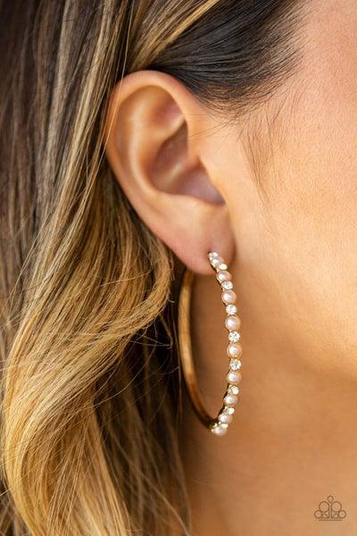 A Sweeping Success Gold Hoops