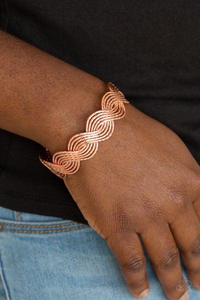 Braided Brilliance Copper Bracelet