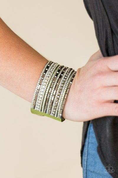 Wham Bam Glam Green Bracelet