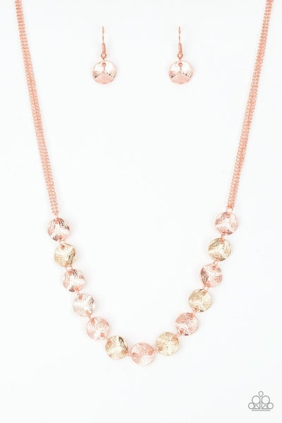 Simple Sheen Copper Gold Necklace