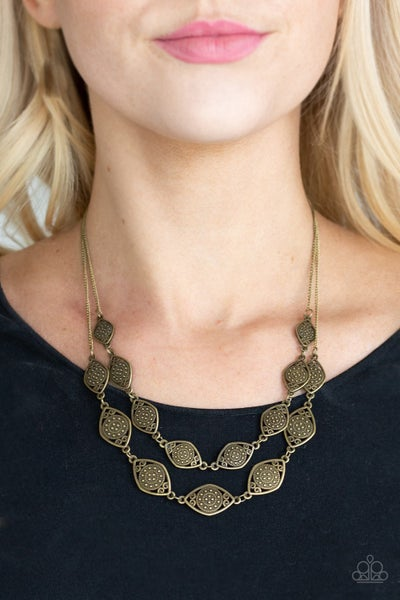Make Yourself At HOMESTEAD Brass Necklace