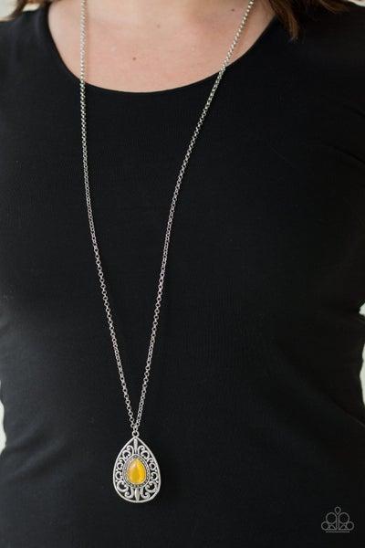 Modern Majesty Yellow Necklace