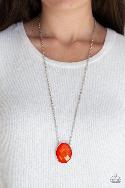 Intensely Illuminated Orange Necklace