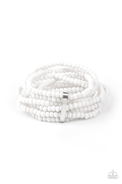 Thank Me Layer White Bracelet