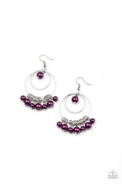 New York Attraction Purple Earrings
