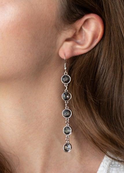 Trickle Down Twinkle Silver Earrings