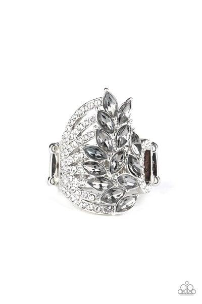 Clear-Cut Cascade Silver Ring