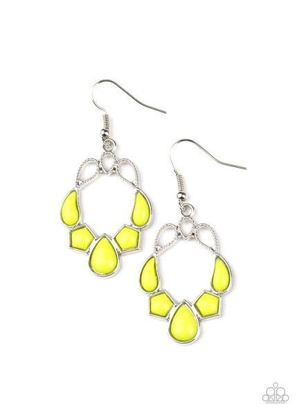 It's Rude To Steer Yellow Earrings