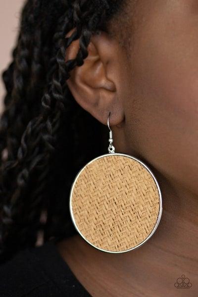 Wonderfully Woven Brown Earrings