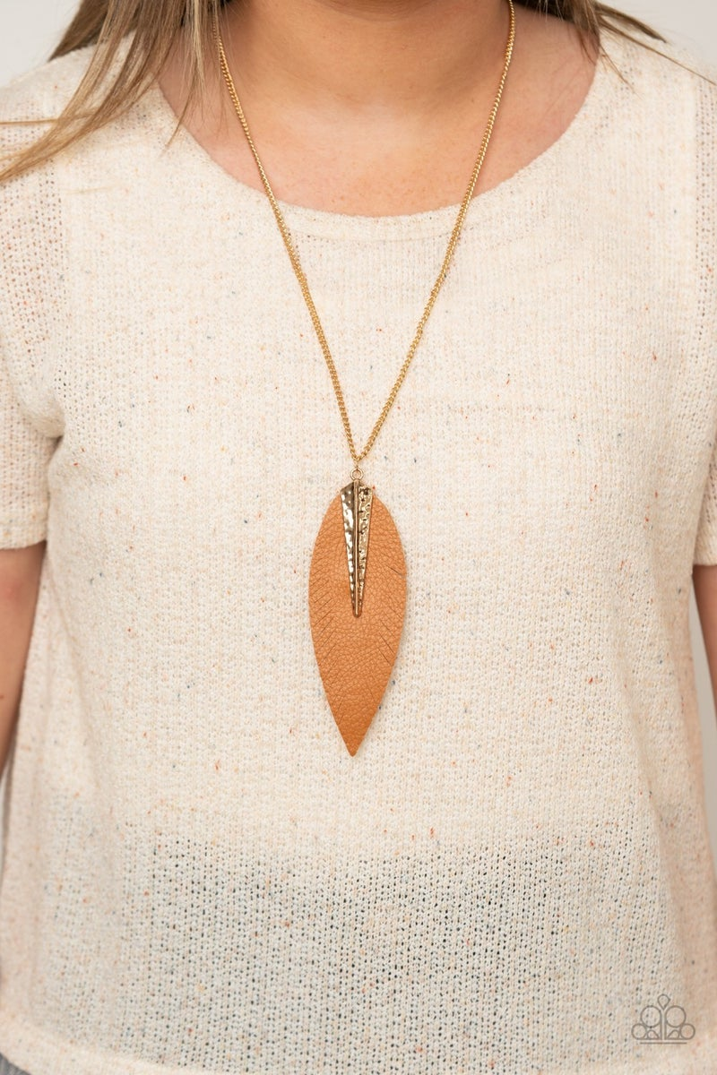 Quill Quest Gold Necklace