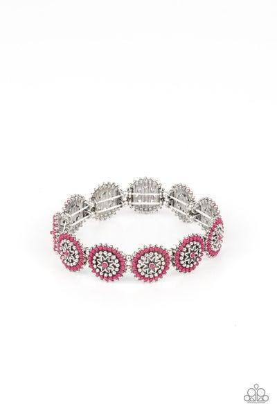 Bohemian Flowerbed Pink Bracelet