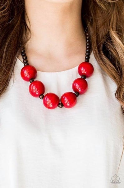 Oh My Miami Red Necklace
