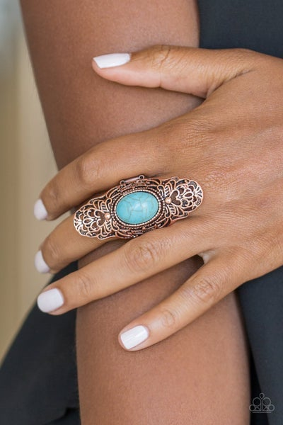 Eco Trippin' Turquoise Copper Ring