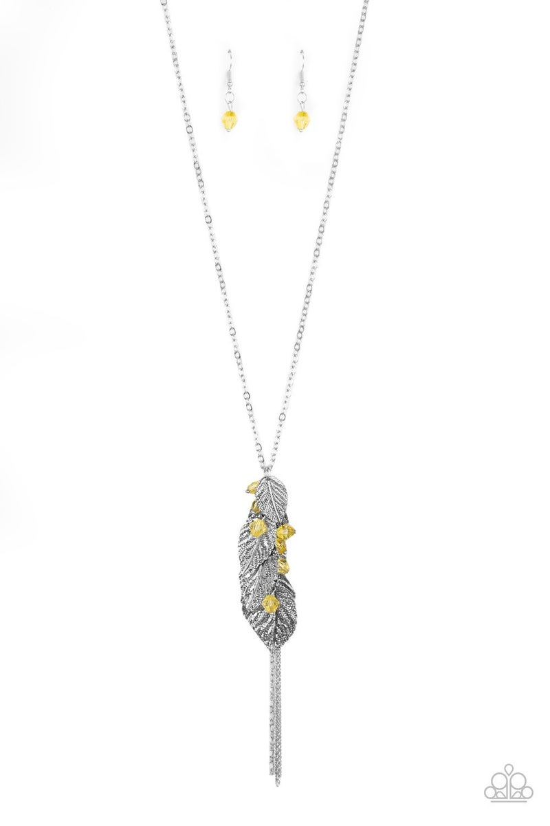 I Be-Leaf Yellow Necklace