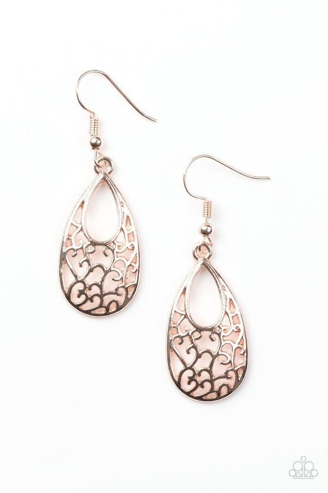 Always Be Vine Rose Gold Earrings