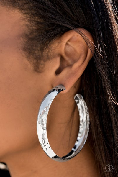 Check Out These Curves Silver Hoops