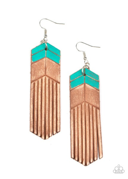 Desert Trials Blue Earrings