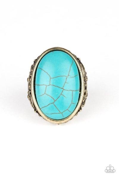 Stonehenge Garden Turquoise Brass Ring