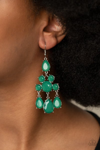 Afterglow Glamour Green Earrings