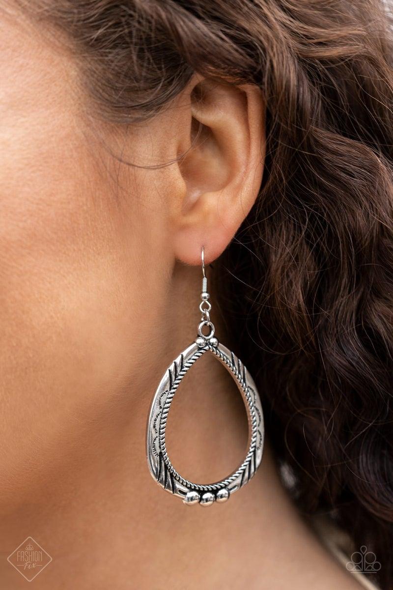 Terra Topography Silver Earrings