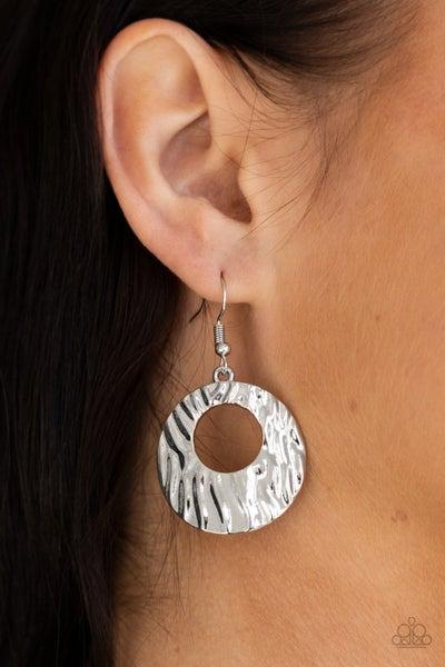 Warped Perceptions Silver Earrings